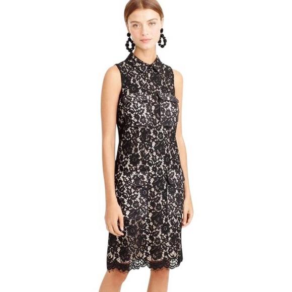J Crew Patch Pocket Lace Mid-Length Cocktail Dress
